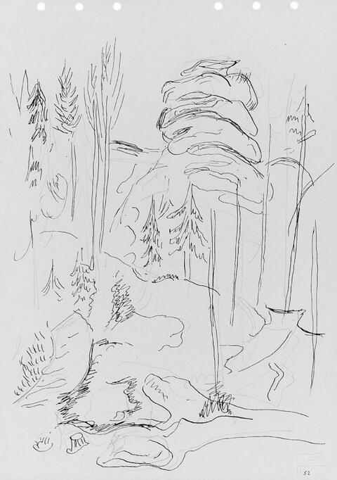 Hans Purrmann - 4 Landschaftskizzen