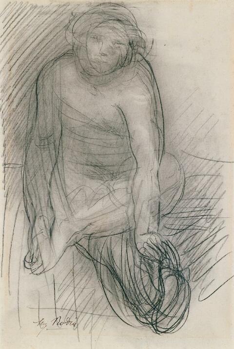 Auguste Rodin - Femme Nu Assise