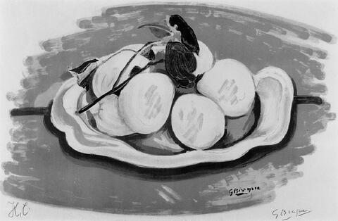 Nach Georges Braque - Corbeille de fruits