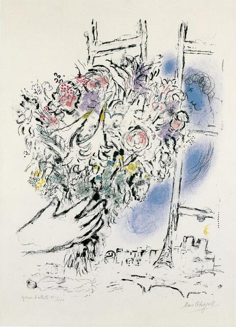 Marc Chagall - Offrande de fleurs