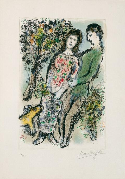 Marc Chagall - Der Orangenbaum