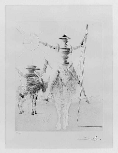 Salvador Dali Y Domenech - Don Quichotte et Sancho Pansa