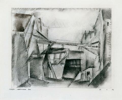 Lyonel Feininger - Abgebrochenes Haus