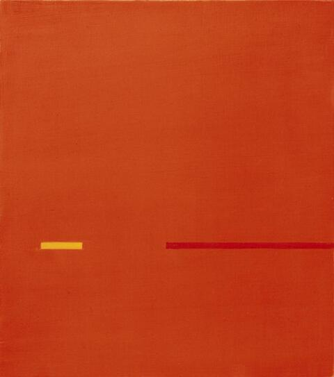 Antonio Calderara - In spazio rosso tensione interrotta
