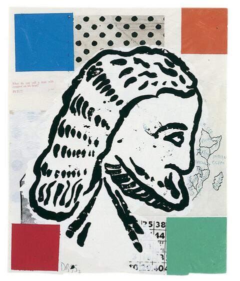 Donald Baechler - Abstract Composition with Greek Head # 2