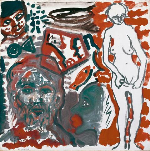 A.R. Penck - Ohne Titel (Selbstportrait)