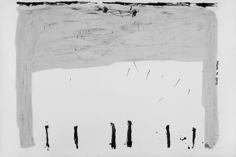 Antoni Tàpies - Verticales en bas
