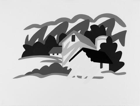 Tom Wesselmann - House and barn in the distance