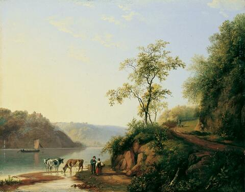 Barend Cornelis Koekkoek, Umkreis - FLUSSLANDSCHAFT.