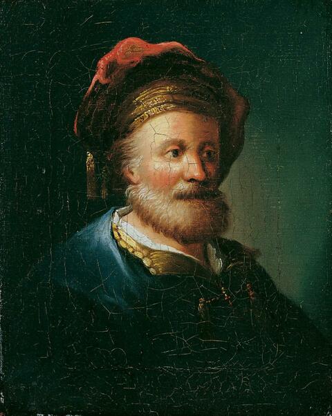 Christian Wilhelm Ernst Dietrich, gen. Dietricy - EIN BÄRTIGER ORIENTALE.