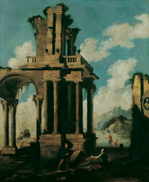 Giovanni Ghisolfi, Umkreis - RUINENCAPRICCIO.