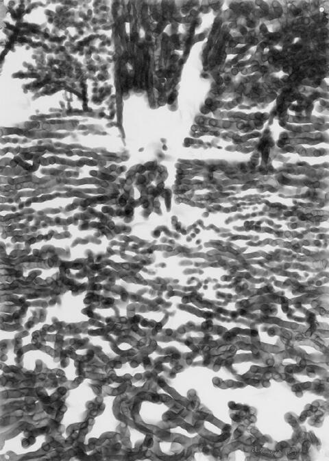 Jirí Georg Dokoupil - Ohne Titel (Bäume)