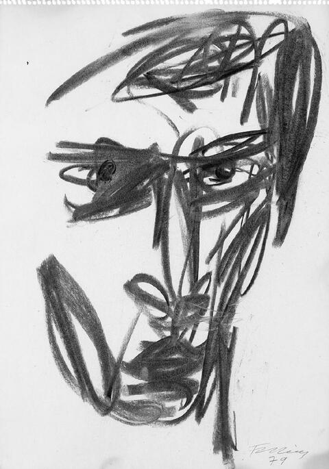 Rainer Fetting - Selbstportrait