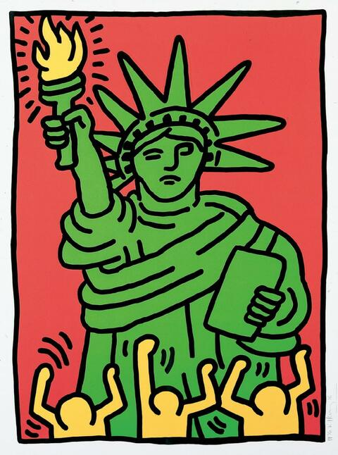 Keith Haring - Statue of Liberty