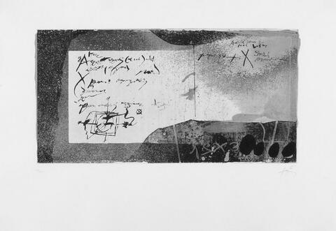 Antoni Tàpies - Manuscript