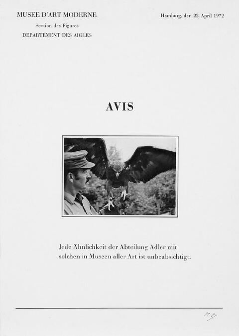 Marcel Broodthaers - Six Lettres ouverts. Avis