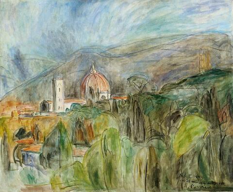 Hans Purrmann - Blick auf Florenz