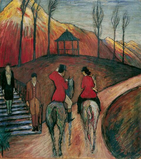 Marianne von Werefkin - Landschaft mit Reiter und Reiterin