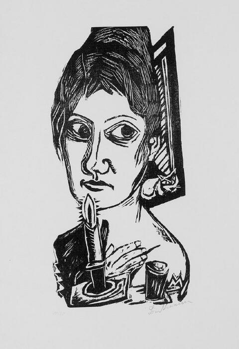 Max Beckmann - Frau mit Kerze