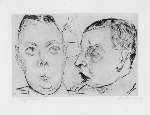 Max Beckmann - Zwei Auto-Offiziere