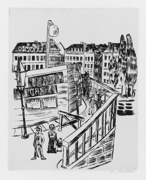 Max Beckmann - Holzbrücke
