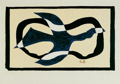 Georges Braque - Oiseau traversant un nuage (Oiseau XI)