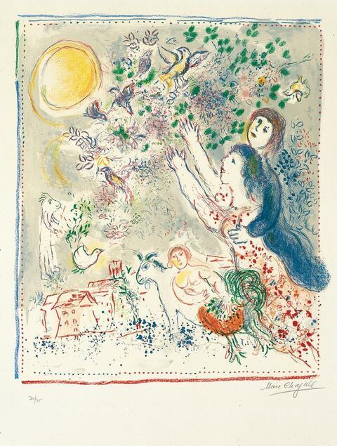 Marc Chagall - La chasse à l'Oiseau bleu