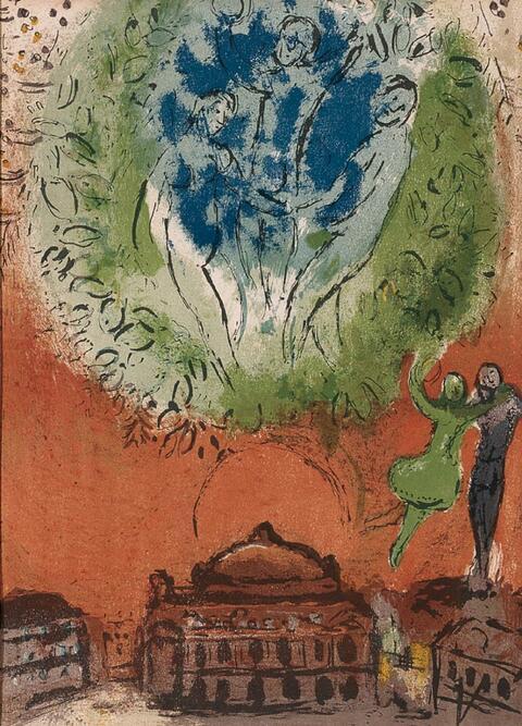 Marc Chagall - Derriere le Miroir Nos. 66-68