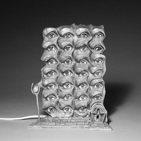 Salvador Dali Y Domenech - Les Yeux surréalistes. Sculpture d´un projet pour un édifice