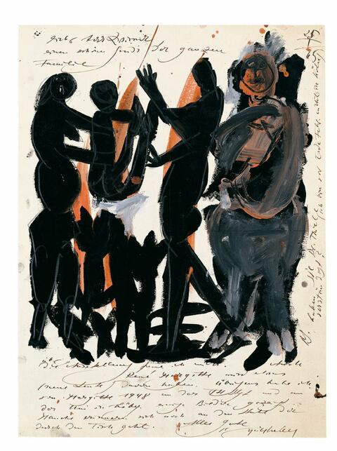 H.A.P Grieshaber - Künstlerbrief