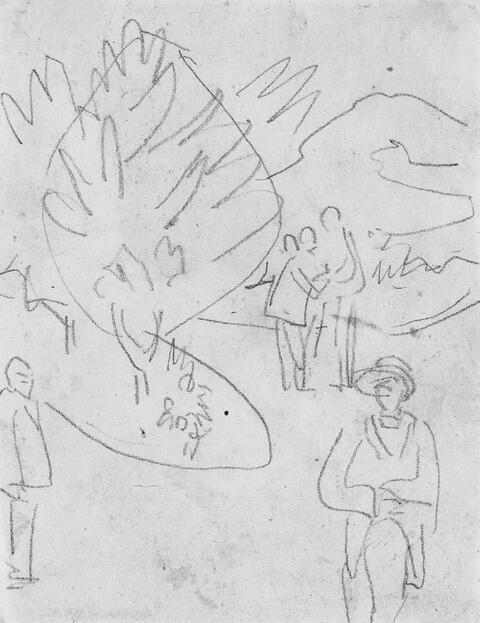Ernst Ludwig Kirchner - Spaziergänger im Park
