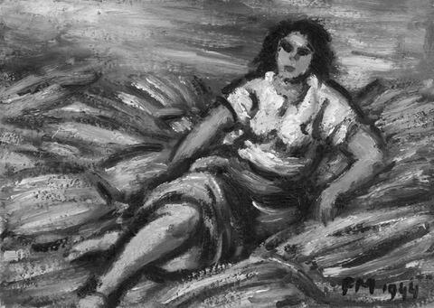 Frans Masereel - Femme assise sur des gerbes
