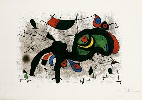 Joan Miró - Der blühende Widder