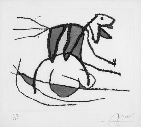 Joan Miró - El sobreviviente visita los pájaros