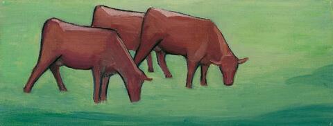 Gabriele Münter - Drei Kühe auf der Weide