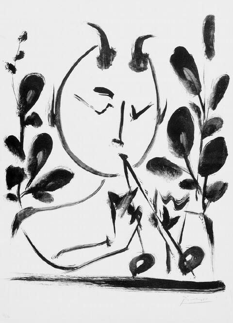 Pablo Picasso - Faune aux branchages