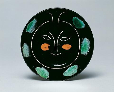 Pablo Picasso - Service visage noir. Assiette J