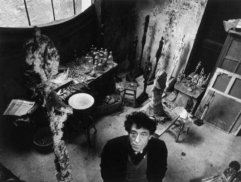 Robert Doisneau - Giacometti in seinem Atelier