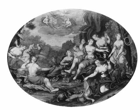 Französischer Meister - VIER MYTHOLOGISCHE SZENEN.