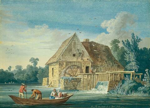 Jacob Philipp Hackert - DIE WASSERMÜHLE BEI IVRY.
