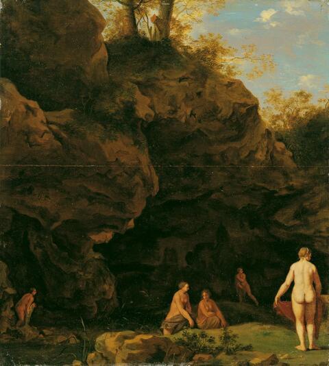 Cornelis van Poelenburgh, Werkstatt - WALDTEICH MIT BADENDEN NYMPHEN.