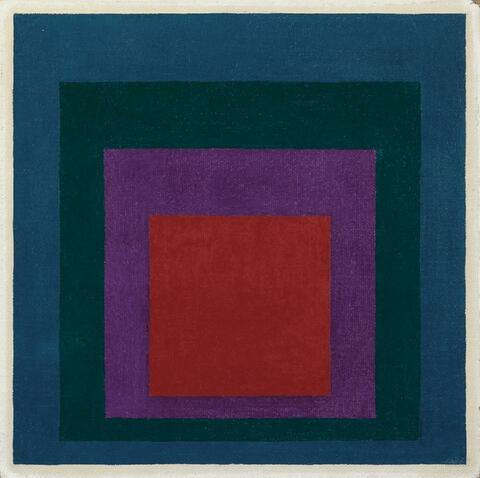 """Josef Albers - Study to Homage to the Square: """"Lighting up"""""""