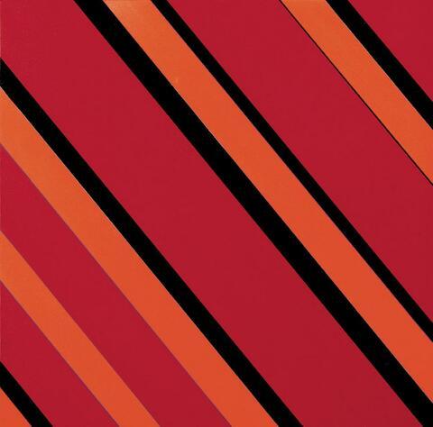 Günter Fruhtrunk - Ohne Titel (Rot/Schwarz)