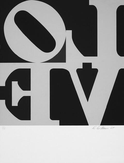Robert Indiana - Love Wall (Love Frieze)