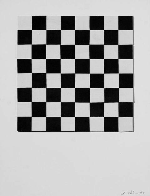 Albert Oehlen - Ohne Titel (Quadrate)
