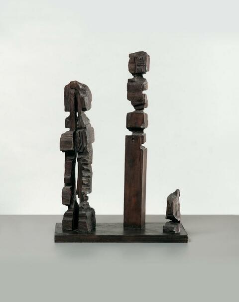 A.R. Penck - Drei Figuren. Erster Versuch