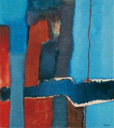 Fritz Winter - Mit roter Linie