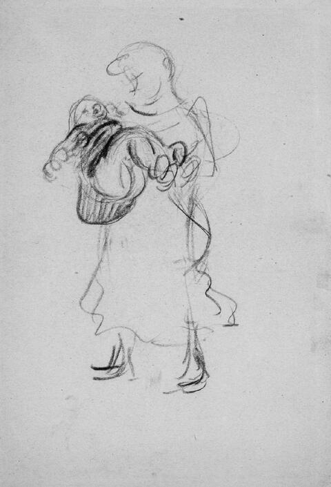 Heinrich Zille - Mutter mit Kind