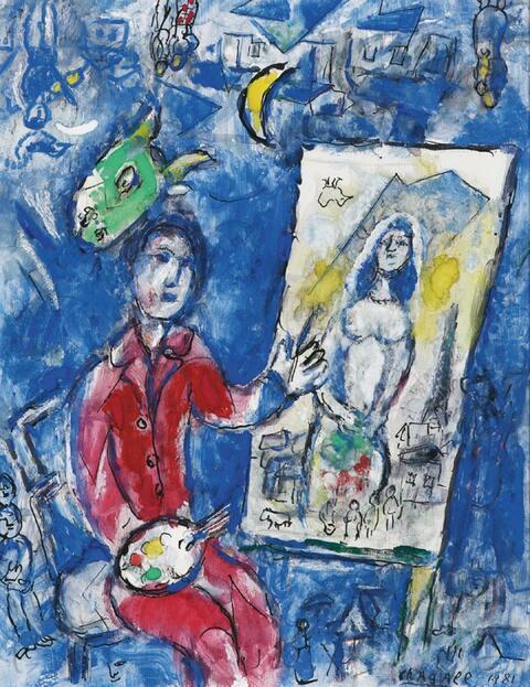 Marc Chagall - Peintre devant chevalet