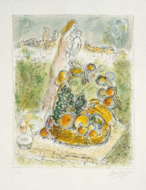 Marc Chagall - Der große Korb